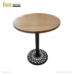 Bàn Cafe Highland chân gang đúc D60cm | TRAMDOT Furniture