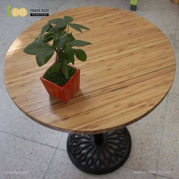 Bàn Cafe Highland chân gang đúc D60cm | TRAMDOT Furniture