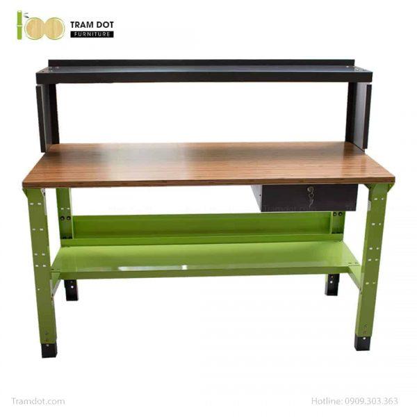Bàn nguội thao tác cơ khí mặt bàn tre Workbench