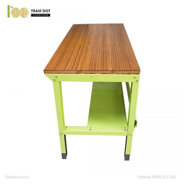 Bàn nguội thao tác cơ khí Workbench cơ bản mặt bàn tre | TRAMDOT Furniture