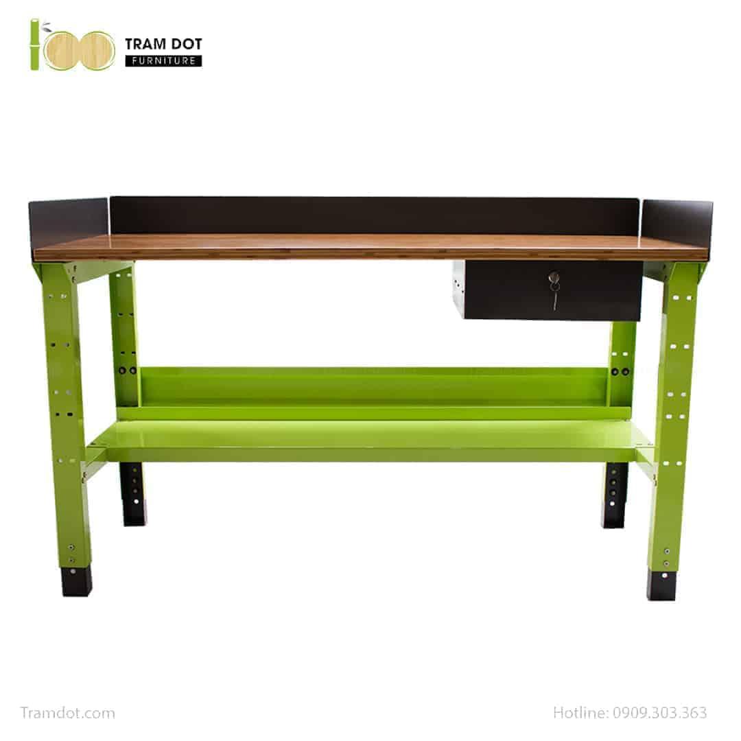 Bàn nguội thao tác cơ khí Workbench CƠ ĐIỆN TỬ mặt bàn tre | TRAMDOT Furniture