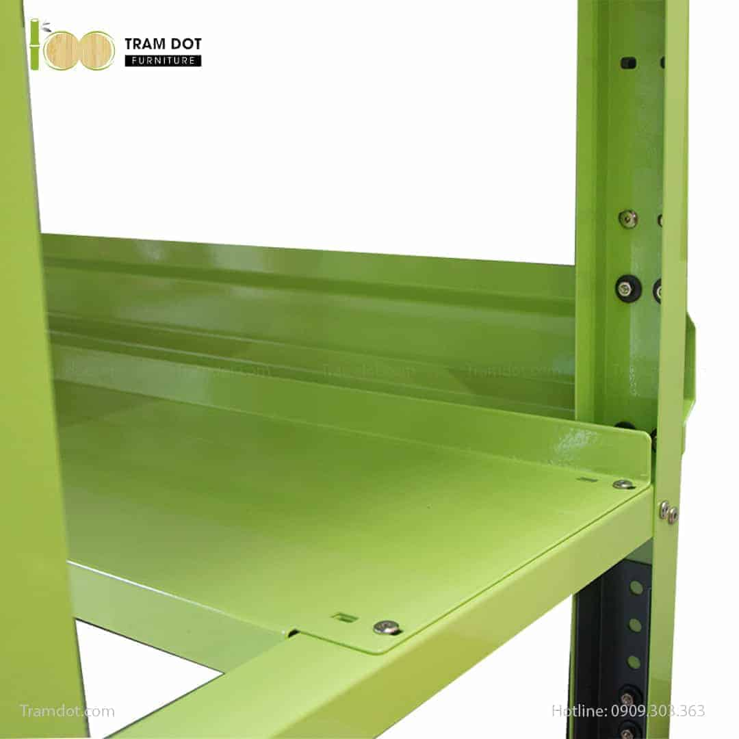 Bàn nguội thao tác cơ khí Workbench KHUNG PEGBOARD mặt bàn tre | TRAMDOT Furniture