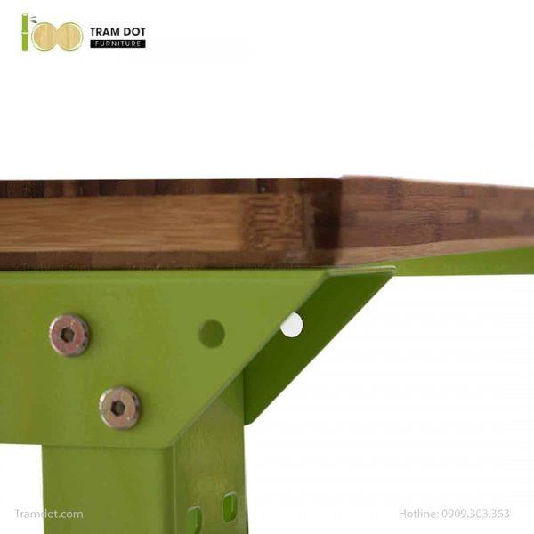 Bàn nguội thao tác cơ khí Workbench cơ bản mặt bàn tre | TRAMDOT Furnituret bàn tre Workbench | TRAMDOT Furniture
