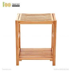 Ghế đơn kết hợp kệ phòng tắm, tre ép, tự lắp ráp | TRAMDOT Furniture