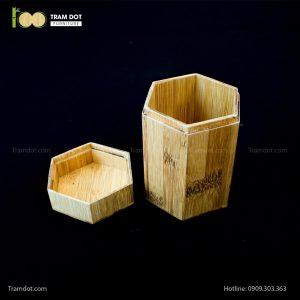 Hũ tre lục giác đựng trà, hũ trà tre | TRAMDOT Furniture
