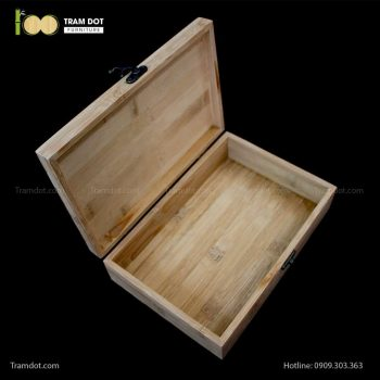 Hộp tre chữ nhật có khóa cài | TRAMDOT Furniture