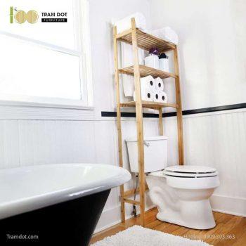 Kệ áp lưng WC, tre ép, tự lắp ráp | TRAMDOT Furniture