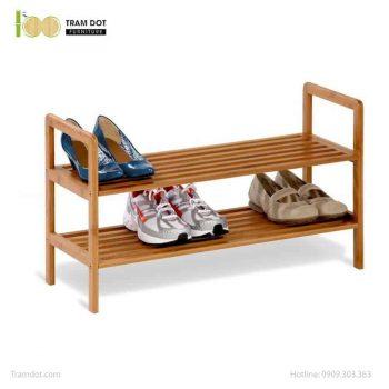 Kệ để giầy 02 tầng, tre ép, tự lắp ráp | TRAMDOT Furniture