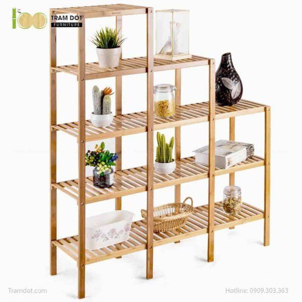 Kệ đa năng 03 khối bậc thang, tre ép, tự lắp ráp | TRAMDOT Furniture