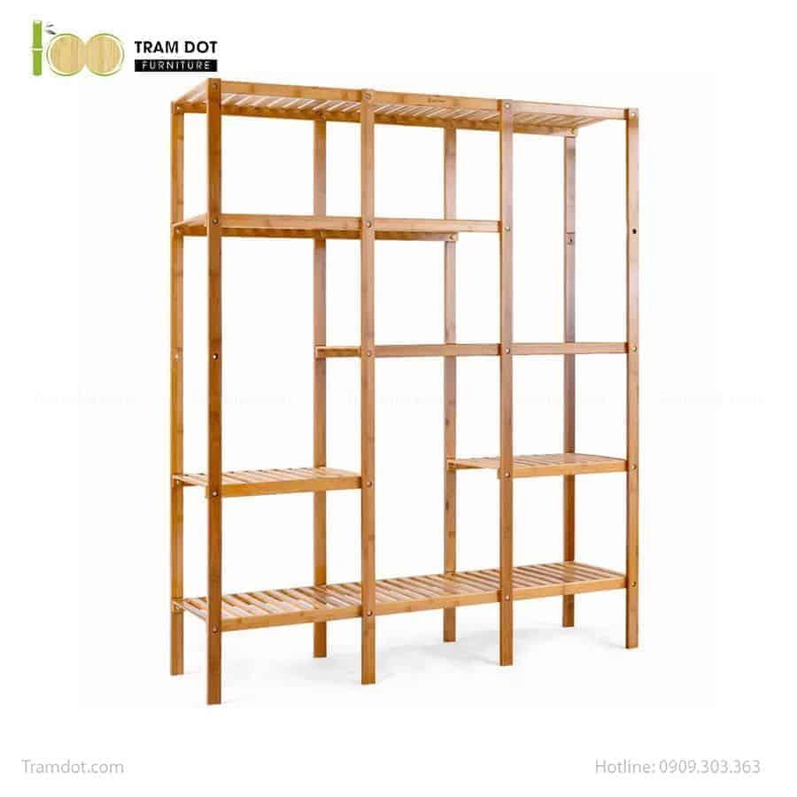 Kệ đa năng 03 khối chữ nhật, tre ép, tự lắp ráp | TRAMDOT Furniture