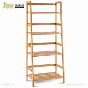Kệ đa năng 04 tầng bậc thang, tre ép, tự lắp ráp | TRAMDOT Furniture