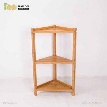 Kệ góc 03 tầng hình tam giác, tre ép, tự lắp ráp | TRAMDOT Furniture