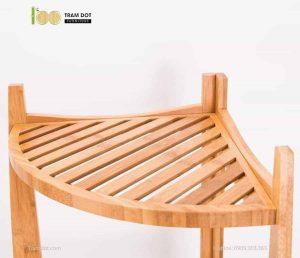 Kệ góc 04 tầng hình cánh cung, tre ép, tự lắp ráp | TRAMDOT Furniture