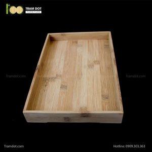 Khay tre đựng bánh hình chữ nhật | TRAMDOT Furniture