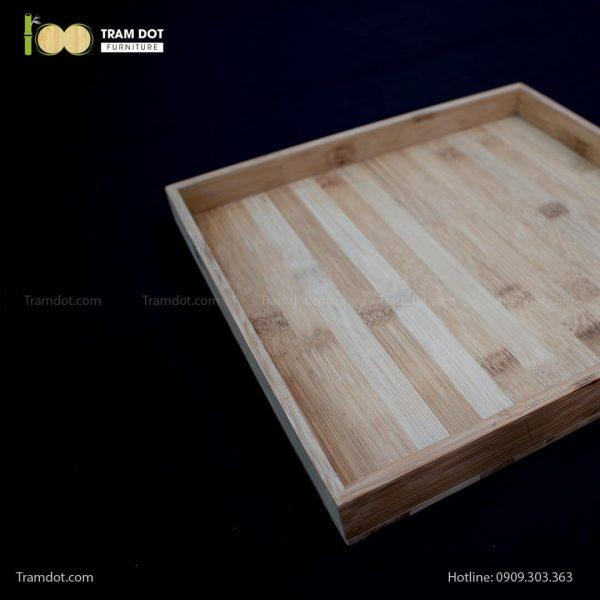 Khay tre đựng bánh hình vuông | TRAMDOT Furniture