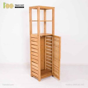 Tủ để khăn tắm, tre ép, tự lắp ráp | TRAMDOT Furniture