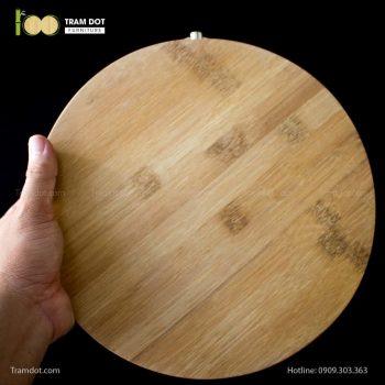Thớt tre ép tròn thân thiện, an toàn với người dùng   TRAMDOT Furniture