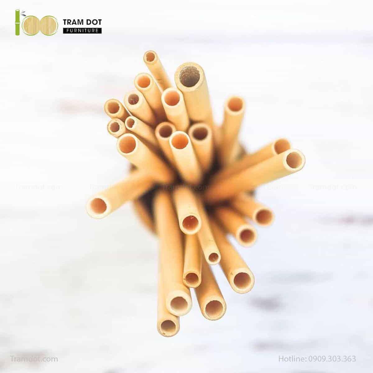 Pack 100 - Ống hút tre, 100% tự nhiên dài 20cm | Thân thiện môi trường | Có thể tái sử dụng | Thay thế ống hút nhựa, thủy tinh và inox
