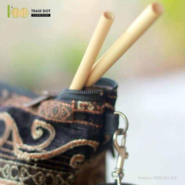 Pack 2 – Ống hút tre, 100% tự nhiên với cọ vệ sinh sơ dừa dài 20cm (2)