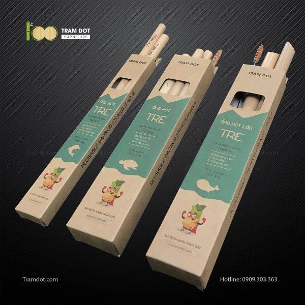 Pack 2 – Ống hút tre dài 20cm (1)