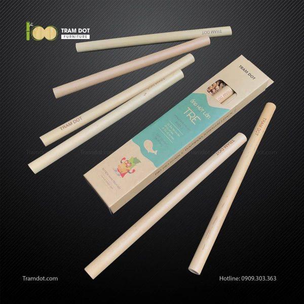 Pack 2 – Ống hút tre size lớn dài 20cm TRAMDOT