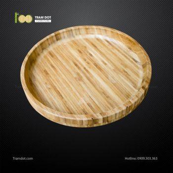 Đĩa đựng thực phẩm tre ép tròn D30x4cm