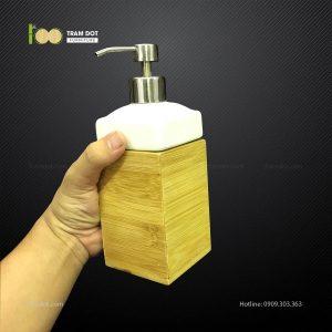 Hộp tre đựng nước rửa tay L7xW7xH18cm TRAMDOT