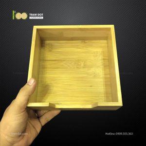 Khay tre đa năng vuông L16xW16xH6cm (TRAMDOT