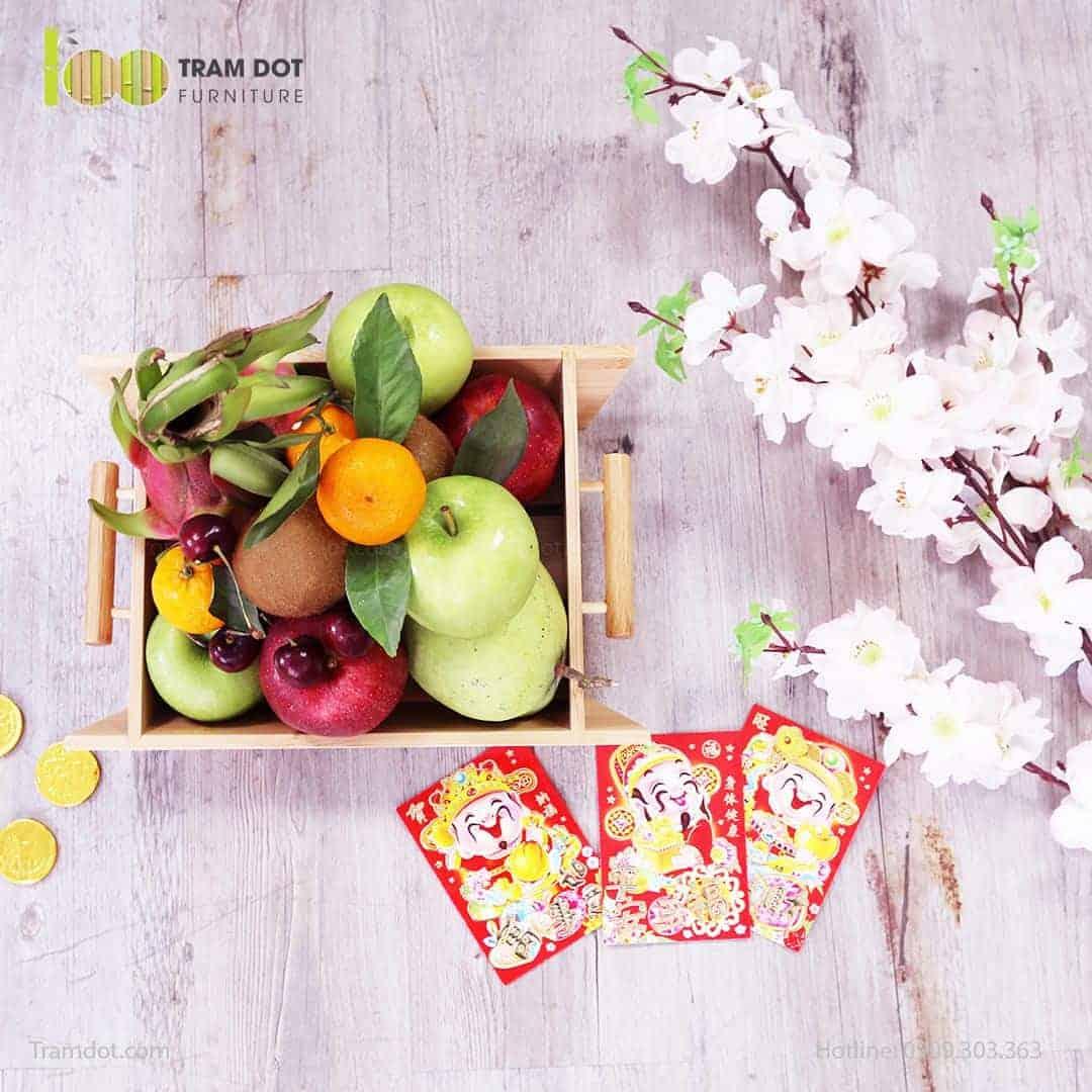 Khay đựng trái cây bằng tre | TRAMDOT.com