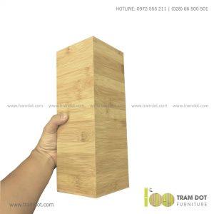 Ống tre vuông DAMEK | Dịch vụ gia công khay, hộp tre theo yêu cầu Trăm Đốt