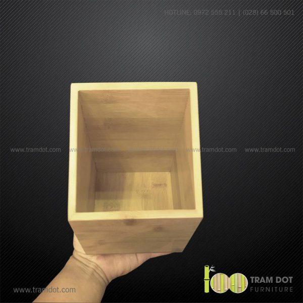 Ống tre vuông DAMEK   Dịch vụ gia công khay, hộp tre theo yêu cầu Trăm Đốt