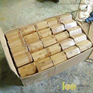 Hũ đựng trà hình lục giác TORIN | Dịch vụ gia công ống tre đựng trà Trăm Đốt