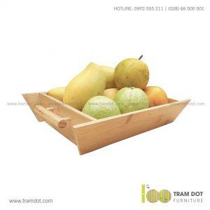 Khay tre đựng trái cây TROY | Dịch vụ gia công quà tre tặng Tết Trăm Đốt