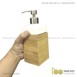 Hộp tre đựng nước rửa tay BREE | Dịch vụ gia công đồ dùng tre Trăm Đốt