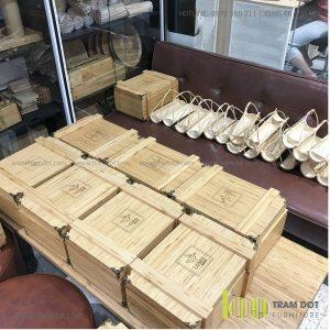Khay tre đựng tôm hùm LAME | Dịch vụ gia công khay đĩa tre theo yêu cầu Trăm Đốt