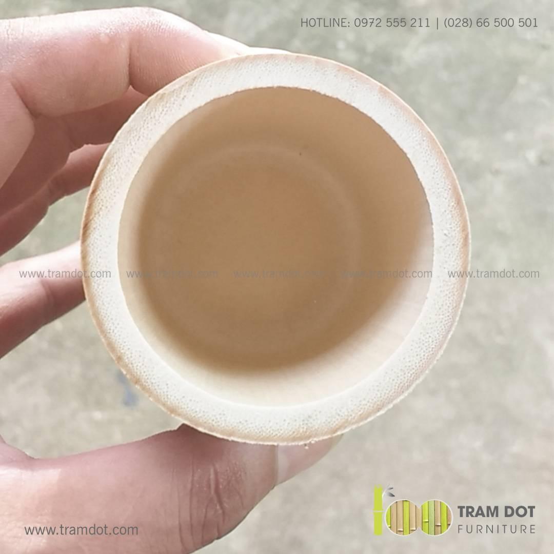 Ly tre uống trà CLARA   Ly, cốc tre tự nhiên Trăm Đốt