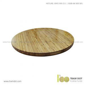 Mặt bàn tre ép tròn, mặt bàn tre - Trăm Đốt