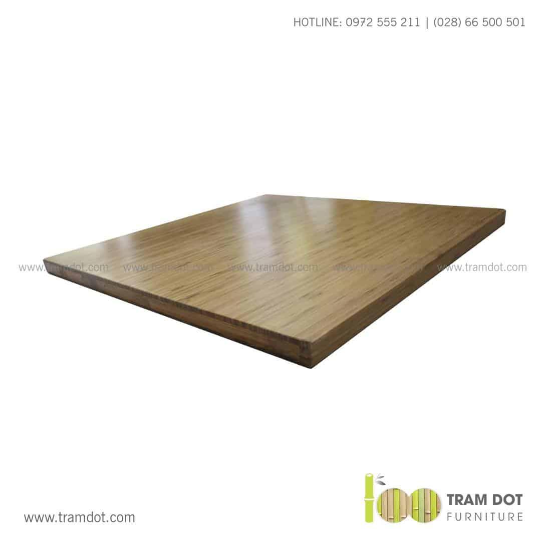 Mặt bàn tre ép tự nhiên vuông, mặt bàn tre Trăm Đốt