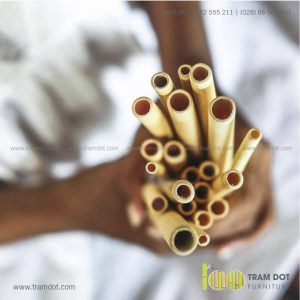 Bộ ống hút tre tự nhiên 100 cái, Pack 100 natural bamboo straws - Trăm Đốt