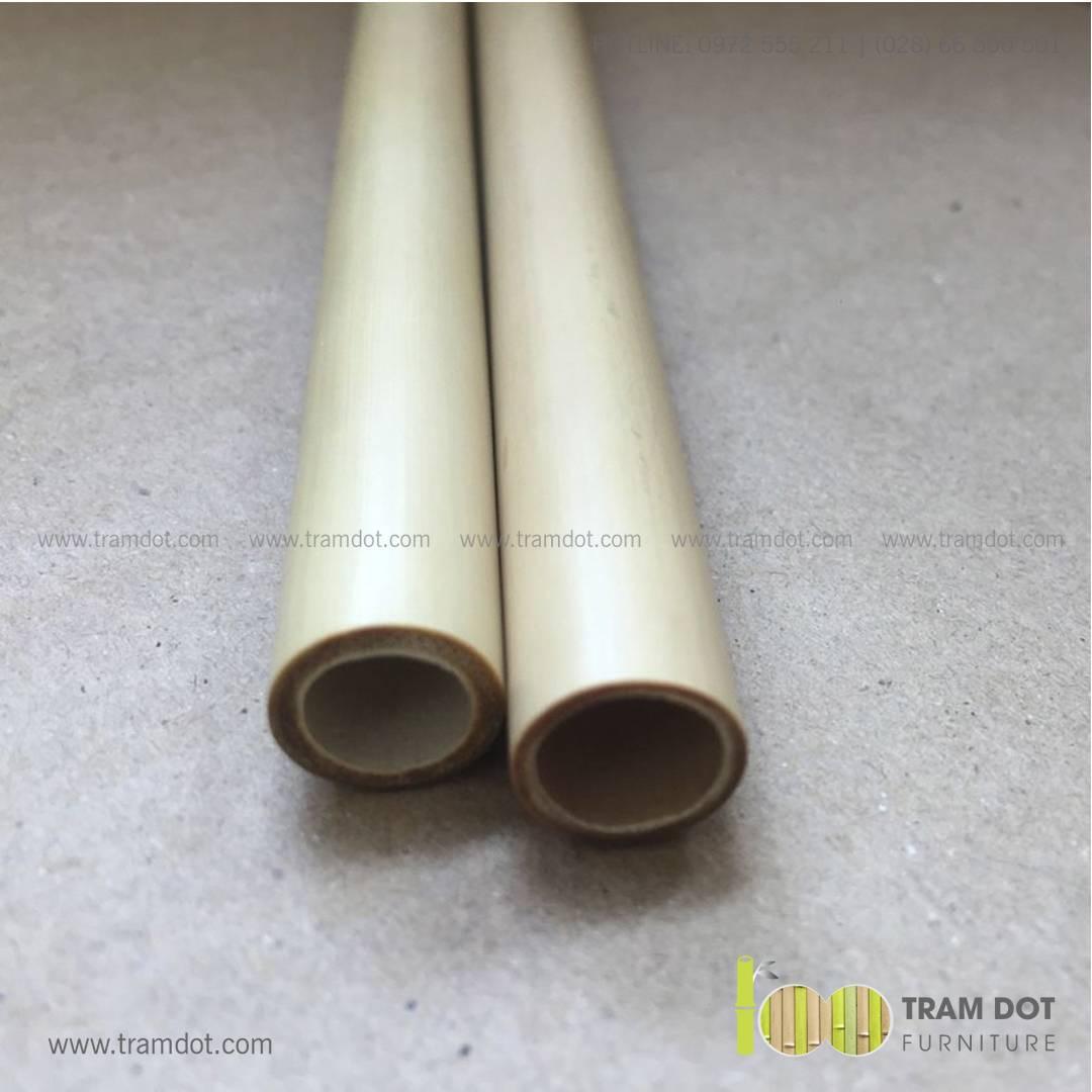 Bộ ống hút tre tự nhiên size vừa 2 cái, Pack 2 natural bamboo straws - Trăm Đốt