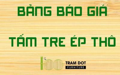 Bảng báo giá tấm tre ép cao cấp chất lượng tại thị trường Việt Nam